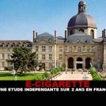 E-CIG : Une étude indépendante sur 2 ans en France.