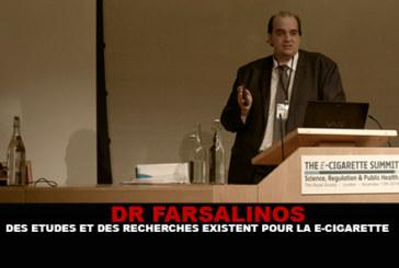 FARSALINOS : Des études et des recherches existent pour la e-cigarette.