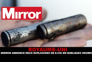 ROYAUME-UNI : Mirror annonce deux explosions en quelques heures.