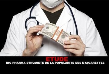 ETUDE : Big Pharma s'inquiète de la popularité des e-cigarettes.