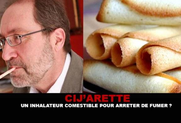 CIJ'ARETTE : Un inhalateur comestible pour arrêter de fumer ?