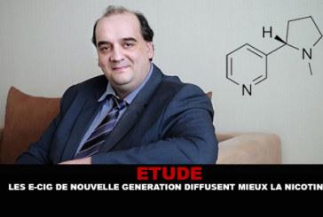 ETUDE : Les e-cigarettes de nouvelle génération diffusent mieux la nicotine.