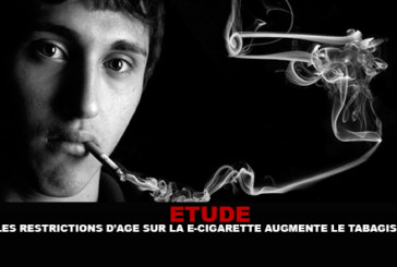 ETUDE : Les restrictions d'âge sur la e-cigarette augmentent le tabagisme.