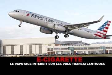 E-CIGARETTE: Vaping אסור על טיסות טרנסאטלנטיות.