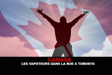 CANADA : Les vapoteurs dans la rue à Toronto !