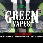 E-LIQUIDE : Un partenariat entre Team Kawasaki SRC et Green Liquides