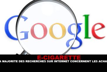 E-CIGARETTE : La majorité des recherches sur internet concernent les achats.