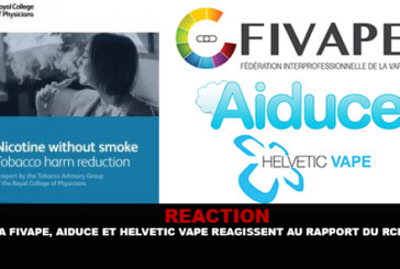 REACTION: Fivape, Aiduce and Helvetic Vape react to the report of the SPC.