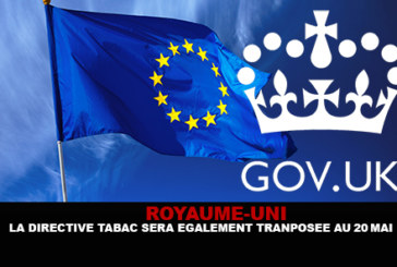 VEREINIGTES KÖNIGREICH: Die Tabakrichtlinie wird ebenfalls auf 20 Mai übertragen.