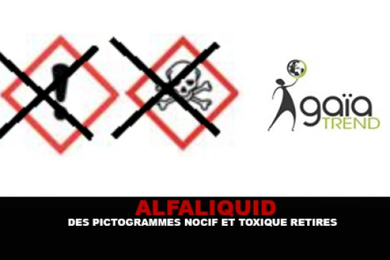 ALFALIQUID : Des Pictogrammes « Nocif et Toxique » retirés.
