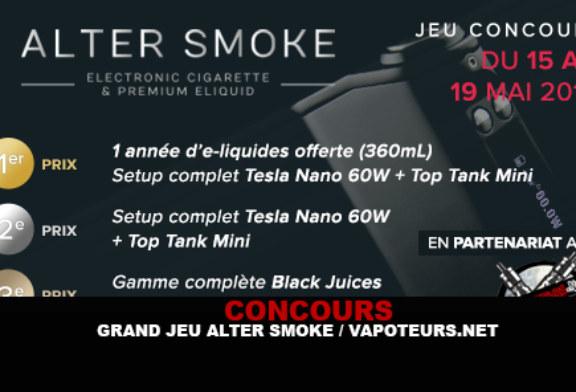 RESULTATS : Concours Alter Smoke / Vapoteurs.net