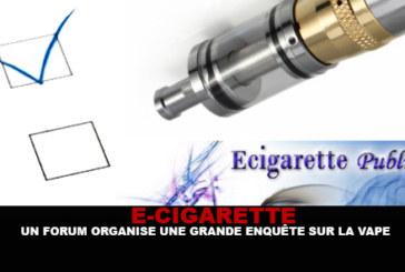 E-SIGARET: Een forum organiseert een groot onderzoek naar de damp.