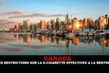 CANADA: Effective e-cigarette restrictions at the start of the school year.