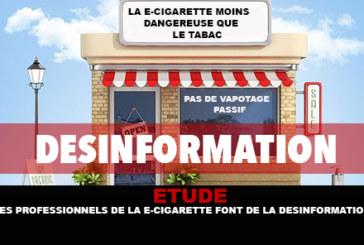 研究:电子烟专业人士误导。