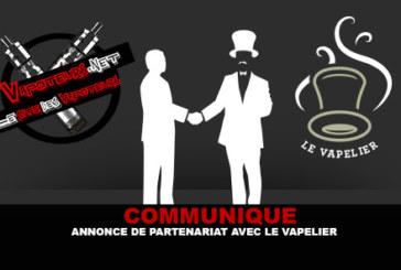 COMMUNIQUE : Annonce de partenariat avec Le Vapelier