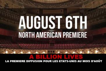 """מיליארד דולר: השידור הראשון לארה""""ב בחודש אוגוסט."""
