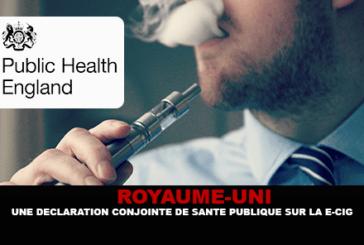 UNITED KINGDOM: A joint public health declaration on the e-cigarette.