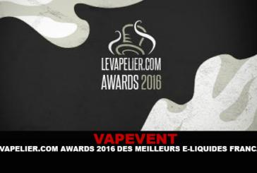 VAPEVENT: LEVAPELIER.COM פרסים 2016 של מיטב e-liquids הצרפתי!