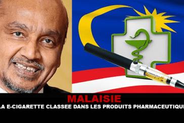 MALAISIE : La e-cigarette classée dans les produits pharmaceutiques !