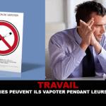 LAVORO: I dipendenti possono svapare durante le loro attività?