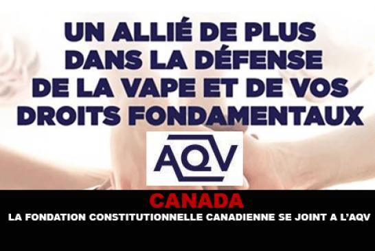 CANADA : La Fondation Constitutionnelle Canadienne se joint a l'AQV.
