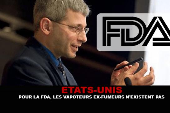 ÉTATS-UNIS : Pour la FDA, les vapoteurs ex-fumeurs n'existent pas !