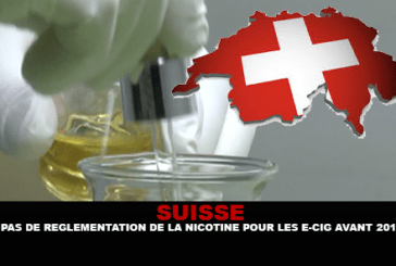 SWITZERLAND: No regulation of nicotine for the e-cigarette before 2018.