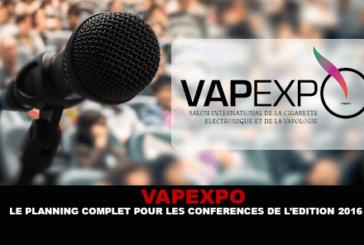 VAPEXPO: il programma completo di conferenze per l'edizione 2016