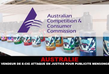 AUSTRALIE : Un vendeur de e-cigarette attaqué en justice pour publicité mensongère.
