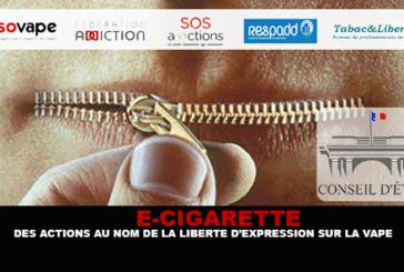 E-CIGARETTE : Des actions au nom de la liberté d'expression sur la vape.