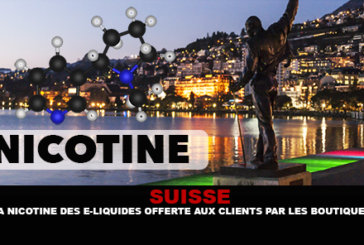 SWITZERLAND: Nicotine e-liquids offered to customers by shops.