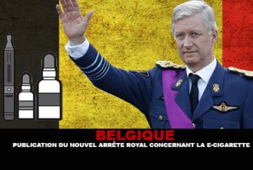 BELGIQUE : Publication du nouvel arrêté royal concernant la e-cigarette.