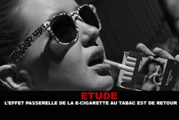 ÉTUDE : L'effet passerelle de la e-cigarette au tabac est de retour.