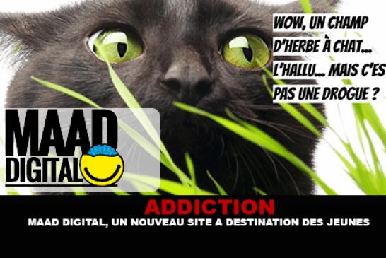 ADDICTION : Maad digital, un nouveau site à destination des jeunes.