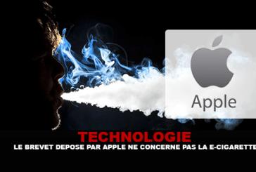 TECHNOLOGIE : Le brevet déposé par Apple ne concerne finalement pas la e-cigarette.