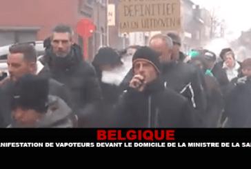 בלגיה: הפגנת עבודות מול ביתו של שר הבריאות.