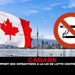 CANADA : Un premier rapport des infractions à la loi de luttre contre le tabagisme.