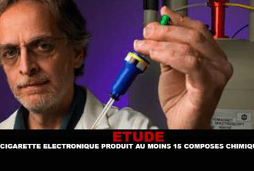 ÉTUDE : La cigarette électronique produit au moins 15 composés chimiques.