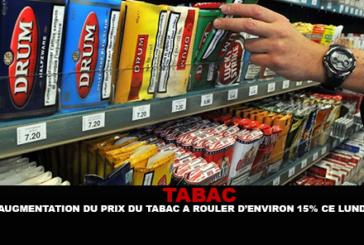 TABACCO: aumento del prezzo del tabacco rotolante di circa 15% questo lunedì.