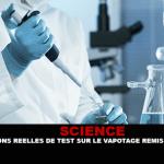 SCIENCE : Les conditions réelles de test sur la e-cigarette remises en cause ?