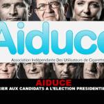 AIDUCE : Un courrier aux candidats à l'élection présidentielle 2017