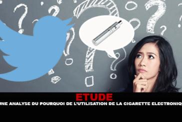 ÉTUDE : Une analyse du pourquoi de l'utilisation de la cigarette électronique