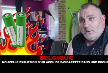 BELGIO: Nuova esplosione di una batteria di sigaretta elettronica in una tasca.