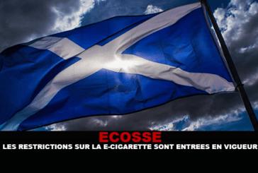 ÉCOSSE : Les restrictions sur la cigarette électronique sont entrées en vigueur