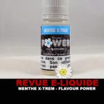 REVUE : MENTHE X-TREM PAR FLAVOUR POWER