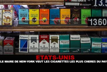 ÉTATS-UNIS : Le maire de New-york veut les cigarettes les plus chères du pays