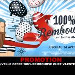 קידום: הצעה חדשה 100% החזר עבור חג הפסחא ב Vapoter.fr
