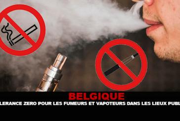 BELGIO: tolleranza zero per fumatori e vapers in luoghi pubblici.