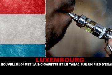 לוקסמבורג: החוק החדש מעמיד סיגריות אלקטרוניות וטבק על בסיס שווה.