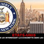 СОЕДИНЕННЫЕ ШТАТЫ: Нью-Йорк принимает законопроект о запрете электронных сигарет в общественных местах.